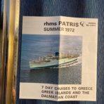 Chandris: SS Patris 1972 7 days cruises