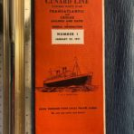 Cunard Line: Transatlantic-Cruise rates and sailings for January 1951 Number 1