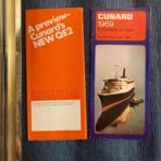 Cunard Line: QE Maiden Preview and Rates folder set