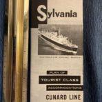 Cunard Line: Sylvania Tourist Class Plans 1962