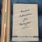 Cunard Line: General Information for Passenger Booklet