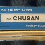 P&O-Orient: SS Chusan Blue Tourist plans  1964