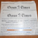 Cunard White Star Line: 2 copies of the Ocean Times from the QE.