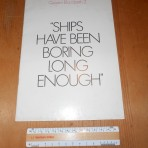 "Cunard Line: QE2 ""Ships Have Been Boring Long Enough"" Pre maiden brochure. Repriced"