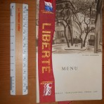 The French Line: Liberte Menu and Souvenir Hat Ribbon