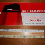 French Line: SS France miniature deckplan 1967.