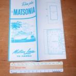 Matson Line: SS Matsonia Deckplan for 1956