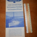 American President Lines: President's Cleveland and Wilson deckplan 1960