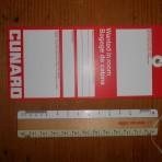 Cunard Line: Baggage Tag