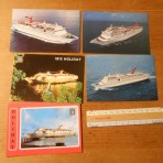 Carnival Cruises: 2nd / 3rd generation ship postcard set