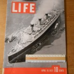 Cunard Line: QM cover of Life magazine