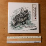 Cunard Line: Queen Mary Tile and Thermometer