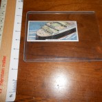 Cunard line: Queen Mary Mars collector card: Tourist decks