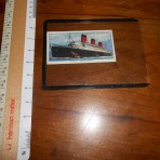 Cunard line: Queen Mary Churchman cigs collector card:
