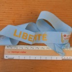 French Line: SS Liberte Light Blue Souvenir hat ribbon