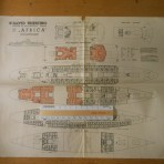 "Home Lines"" Italia 1962-63 sailing and deckplan"