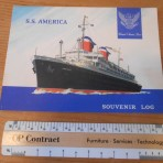 United States Lines: SS America Voyage 184 Souvenir Log Card
