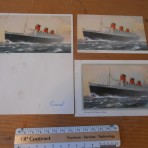 Cunard Line: Queen Mary Three paper items