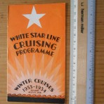 White Star Line: Winter 1933-34 Cruising program