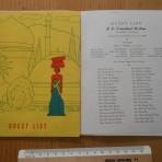 American President Lines: President Wilson Maiden Voyage Passenger List.