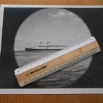Italian line: Conte Di Savoia Porthole Press Photo