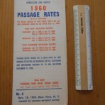 Cunard Line: Sailing to Europe #4 for 1960 passage rates.