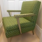 United States Lines: First Class Cabin upholstered arm chair.