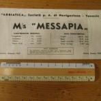 Adriatica Line: MS Messapia deckplan 1969.