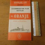 Royal Dutch / Nederland Line:  MS Oranje deckplan