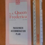 National Hellenic American Line: SS Queen Frederica Deckplan for 8/64