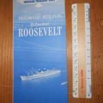 American President Line: SS President Roosevelt deckplan