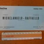 Italian Line: Michelangelo and Raffaello Deckplan 1973