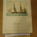 French Line: Normandie Tourist class luncheon menu August 1938