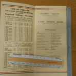 French Line : Liberte January 1952 1st class passenger list
