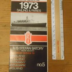 Polish Ocean Lines: Stefan Batory sailing and fares schedule 1973 #5