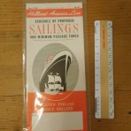 HAL: Sailing and fare schedule #28 June 1, 1955.