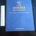 Cunard Line: QE2 Golden Route World Cruise Passenger List