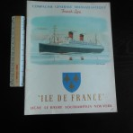 French Line: Ultimate Ile De France Post War Brochure. Restocked!
