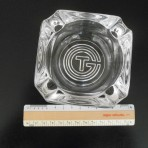 French Line: SS France Glass CGT ashtray