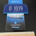NCL: Norway Cabin Number Sign and Deckplan