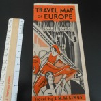 IMM/ White Star Line: Travel Map of Europe.