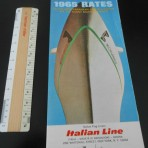 Italian Line: 1965 tabbed rate folder