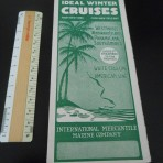 White Star Line/ American Line/ IMM: Winter cruise folder for Jan- March 1921