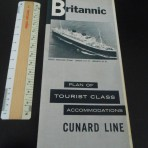 Cunard White Star; Britannic TC Deckplans May 1957