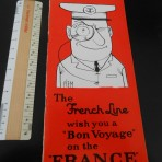 French Line: Bon voyage SS France booklet