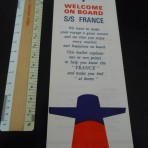 French Line: Welcome On Board foldout for SS France.