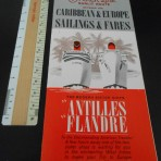 French Line:  1964 Rates and sailings for the Flandre and Antillies