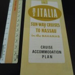 Home Lines :MS Italia yellow 1963 Deck plan.