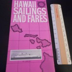Matson Line: Lurline Sailings and Fares 1/1/1965