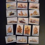 Various ships: 19 Mills Tobacco cards